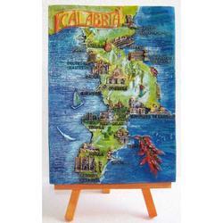 Quadretto con Calabria in resina e treppiede cm 16x12