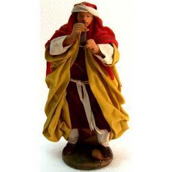 Personaggio per Presepe Pifferaio cm 15 terracotta e stoffa