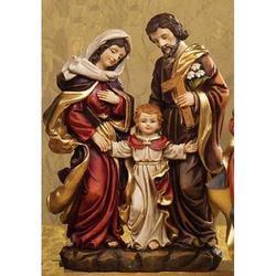Statua Sacra Famiglia in resina cm 30