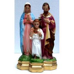 Statua Sacra Famiglia cm 20 in gesso