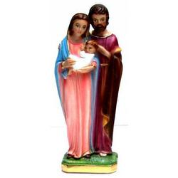 Sacra Famiglia in gesso cm 21