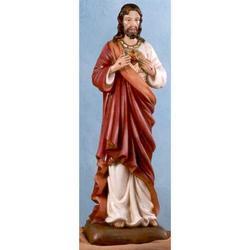 Statua Gesu Sacro Cuore in resina cm 50