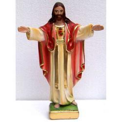 Sacro Cuore di Gesu braccia aperte cm 20 in gesso