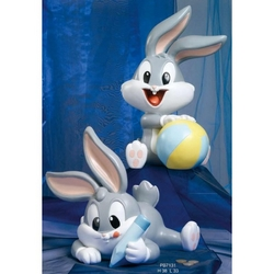 Salvadanaio Bugs Bunny cm 38 in resina Set da 2 pezzi assortiti