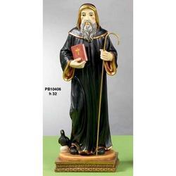 Statua San Benedetto cm 32 in resina