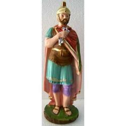 Statua San Donato in gesso cm 23