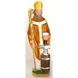 Statua San Eloi in gesso cm 28