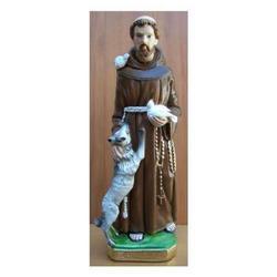 Statua San Francesco con animali cm 40 gesso