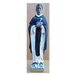 Statua San Martino De Porres in gesso cm 30