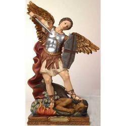 Statua San Michele Arcangelo resina cm 41x27