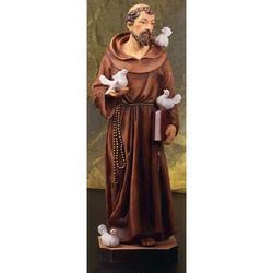 Statua San Francesco di Assisi da cm 40 in resina