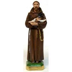 Statua San Francesco Assisi cm 29 gesso