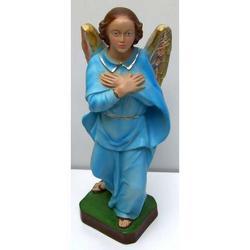 San Gabriele Arcangelo con vestito celeste cm 30 in resina