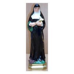 Statua Santa Rita in gesso cm 20