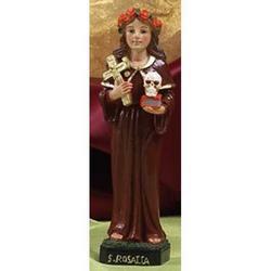 Statua Santa Rosalia cm 13 in resina