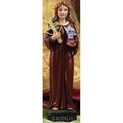 Statua Santa Rosalia cm 32 in resina