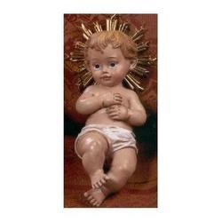 Bambinello cm 12 in resina con aureola