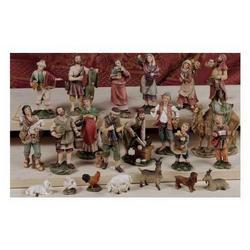 Set con 22 personaggi del presepe da cm 11 in resina