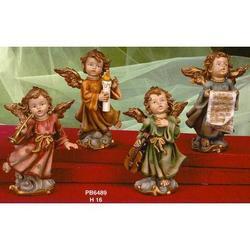 Set con 4 Angeli in resina da cm 16