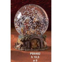 Sfera in vetro con Presepe in resina cm 10.5
