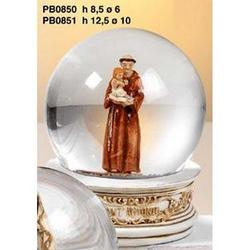 Sfera in vetro con Sant Antonio in resina cm 10