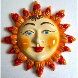 Sole con raggi in ceramica cm 26x26
