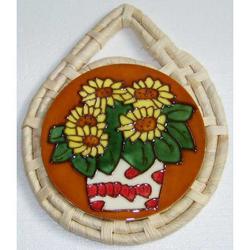 Sottopentola Girasoli in ceramica cm 23x18.5