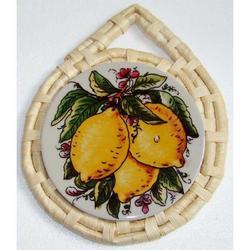 Sottopentola con Limoni in ceramica cm 23x18.5