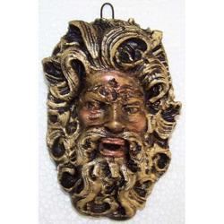 Maschera Greca in Lava cm 9x5.5 modello BA005