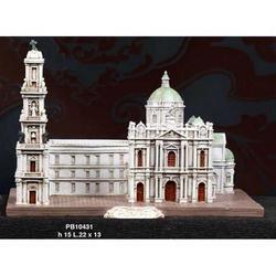 Basilica di Pompei in resina cm 22