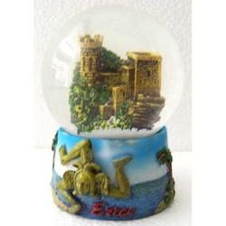 Souvenir Bolla di Erice in resina da cm 6.5