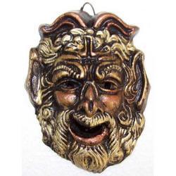 Maschera Greca in Lava cm 9x7 modello BA015