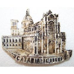Magnete con Duomo di Catania in resina cm 9x7