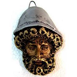 Maschera Greca in Lava cm 8x5 modello BA014