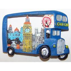 Magnete Souvenir Bus Londra cm 7x4 in resina