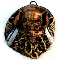 Maschera Greca in Lava cm 7x6.5 modello BA004
