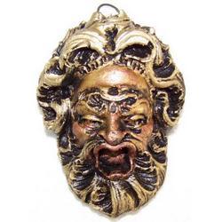 Maschera Greca in Lava cm 8x5 modello BA001