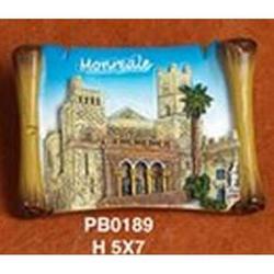 Magnete Pergamena Monreale cm 7x5 in resina