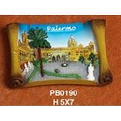 Magnete Pergamena Palermo cm 7x5 in resina