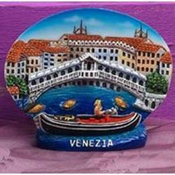 Souvenir piatto veduta di Venezia cm 10x8 in resina