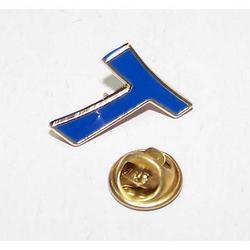 Spilla Tao oro smaltato blu cm 2x1.5
