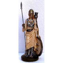 Statua della dea Atena Minerva in resina cm 14