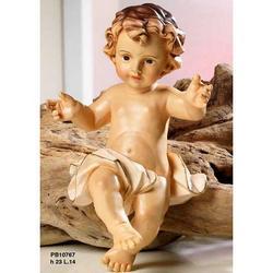 Statua Bambinello in resina cm 23
