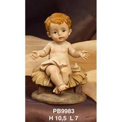 Statua Bambinello seduto cm 10.5 in resina
