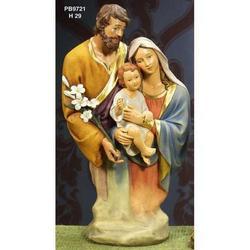 Statua Busto Sacra Famiglia in resina cm 29