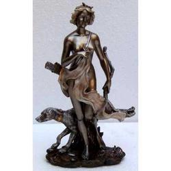 Statua della dea Diana o Artemide in resina cm 18.5