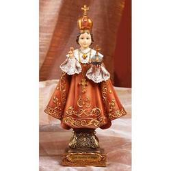 Statua Gesu Bambino di Praga in resina cm 22x11.5