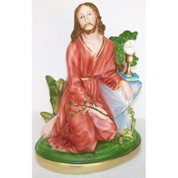 Statua di Gesu nell Orto degli Ulivi in gesso cm 31