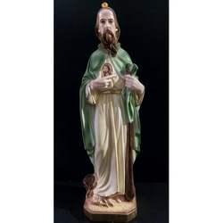 Statua San Giuda Taddeo in gesso cm 40