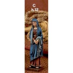 Statua Madonna Addolorata cm 12 in resina